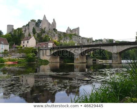 Ruínas castelo França ver medieval primavera Foto stock © borisb17