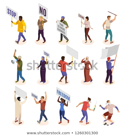 Protest staking isometrische vector collectie Stockfoto © pikepicture