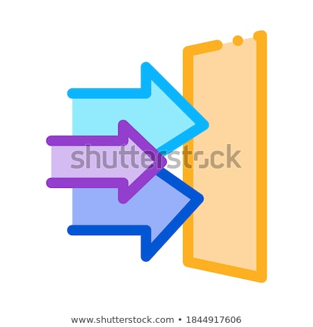 Sonores porte icône vecteur illustration Photo stock © pikepicture