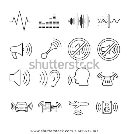 Onda sonora icona vettore contorno illustrazione segno Foto d'archivio © pikepicture