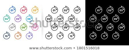 Conjunto um doze linha estilo bala Foto stock © SArts