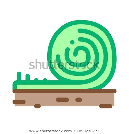 rolled artificial turf icon vector outline illustration Stock photo © pikepicture