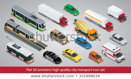 Public Transport Cable Car isometric icon vector illustration Stock photo © pikepicture