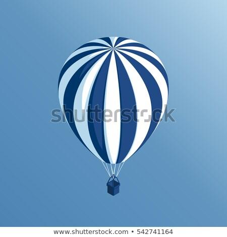 поездку воздушный шар изометрический икона вектора знак Сток-фото © pikepicture
