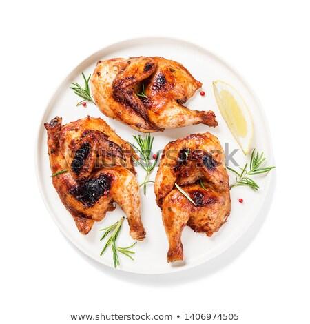 Apetitoso grelhado suculento frango dourado marrom Foto stock © olira