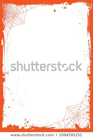 ストックフォト: ハロウィン · フレーム · カボチャ · 背景 · シルエット