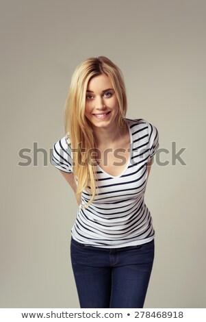 loiro · mulher · retrato · belo · mulher · madura - foto stock © aladin66