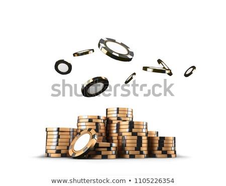 rulett · ikon · gomb · sport · jókedv · kaszinó - stock fotó © cidepix