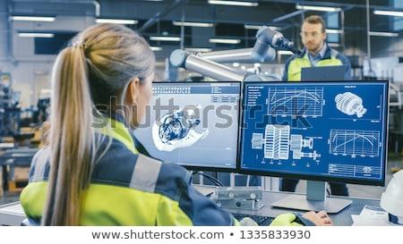 Mekanik mühendislik bilim soyut sanat tıbbi Stok fotoğraf © kentoh