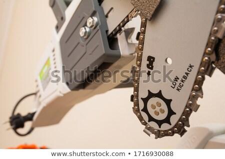 Lánc fűrész merevlemez nyitva merevlemez vezetés Stock fotó © gewoldi
