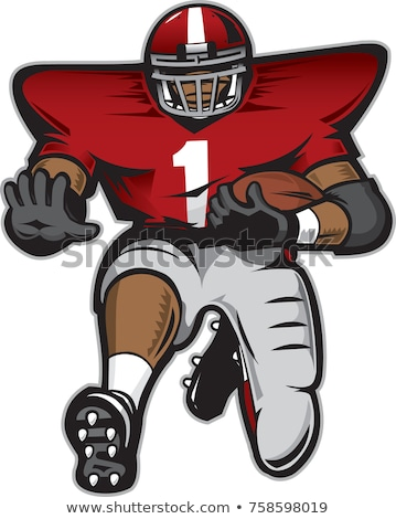 Football Player Runningback Vector Cartoon Stock photo © chromaco