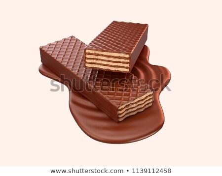 Wafer cioccolato dolce tablet Foto d'archivio © FOKA