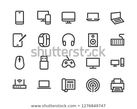 クローズアップ · ワイヤレス · スピーカー · デスク · コンピュータ - ストックフォト © tito