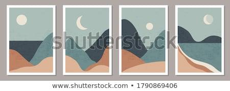 halloween · melancólico · noche · paisaje · grande · luna · llena - foto stock © mariephoto