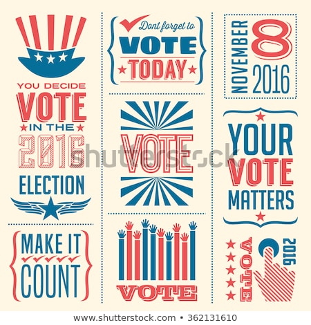 Vintage election badges Stock photo © mikemcd