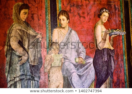 fresk · obrazy · piękna · kolorowy · świątyni · ściany - zdjęcia stock © searagen