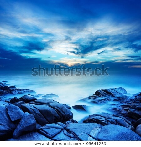 alien sea at dawn long exposure shot square composition stock photo © moses