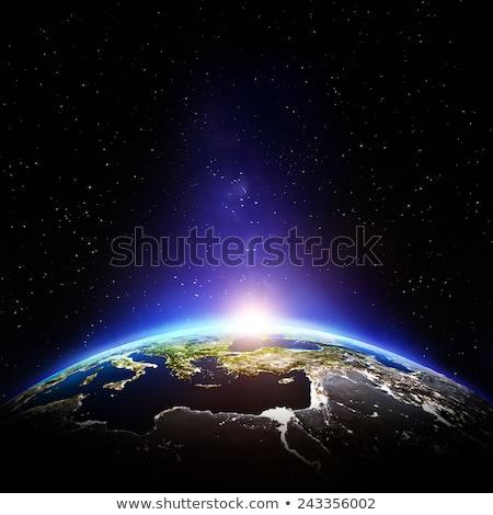 Glowing Cities Around World Stock photo © CarpathianPrince