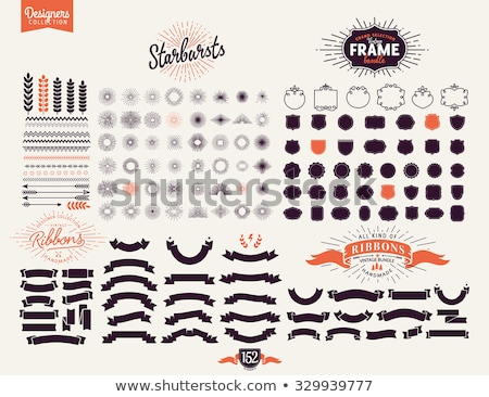 Stock photo: Set Of Design Elements Banners Ribbons Vector