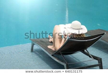 lecture · touristiques · photo · magazine · train - photo stock © photography33