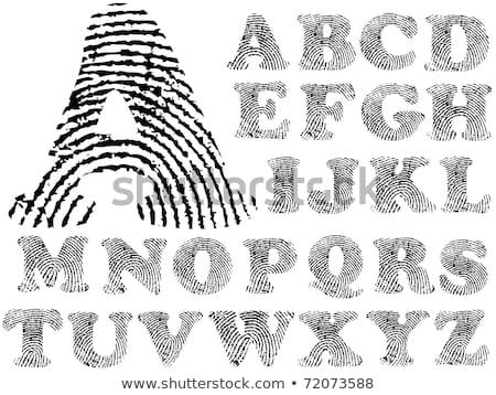 Parmak baskı alfabe dizayn boya imzalamak Stok fotoğraf © ojal