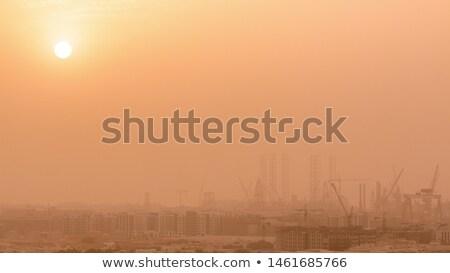 Skyline of Dubai , UAE, smog over the city Stock photo © vlaru