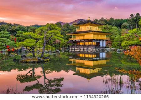 Templom arany nyár Japán ajtó imádkozik Stock fotó © fatalsweets