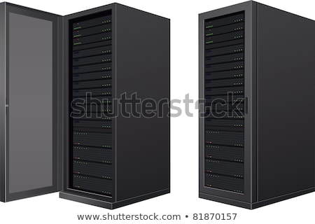 Server-Rack offenen Tür isoliert weiß Business Computer Stock foto © Shevlad