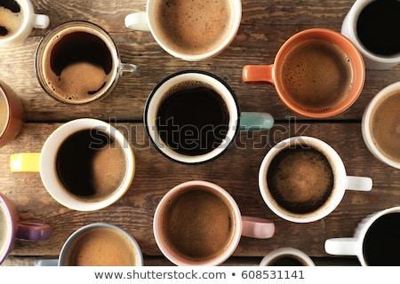 Csésze kávé adag koffein áramló reggeli Stock fotó © stuartmiles