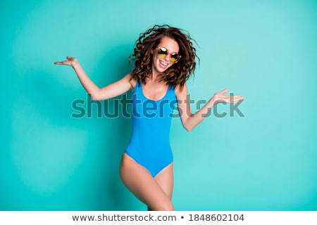 danseur · maillot · de · bain · belle · rouge · posant - photo stock © nikitabuida