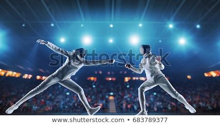 3d fencer   fencing stock photo © texelart