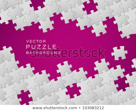 Vector purple background made from white puzzle pieces Stock photo © orson