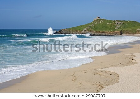 Mer plage cornwall ciel paysage bleu Photo stock © latent