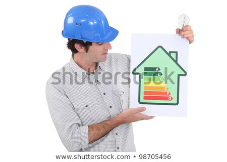 Ingenieur energie-efficiëntie teken klasse grafiek Stockfoto © photography33