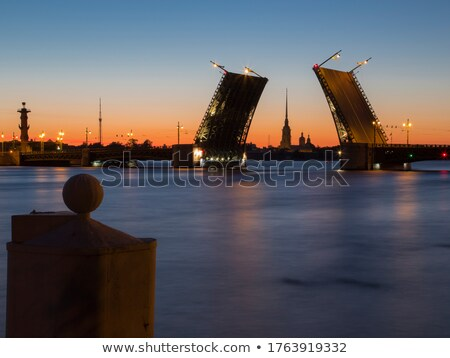 Peter and Paul Fortress. Oppositely banks of Neva Stock photo © pzaxe