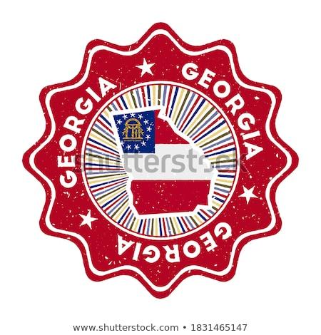 Grúzia retro zászló klasszikus grunge öreg Stock fotó © RedKoala