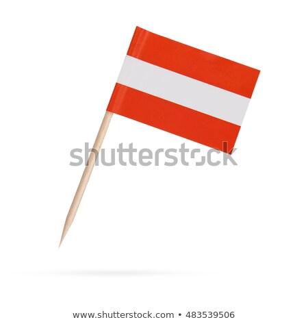 миниатюрный флаг Австрия изолированный заседание Сток-фото © bosphorus