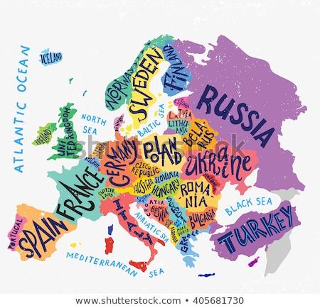 Harita renkler Belçika örnek bayrak sanat Stok fotoğraf © perysty