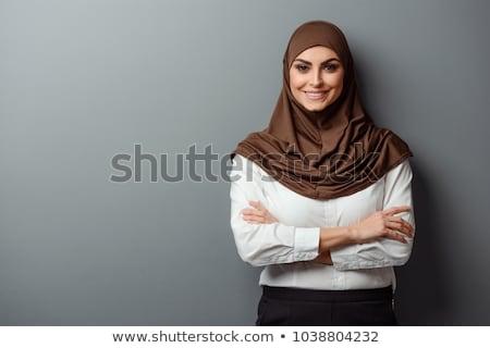 kadın · peçe · genç · kadın · portre · stüdyo - stok fotoğraf © zittto