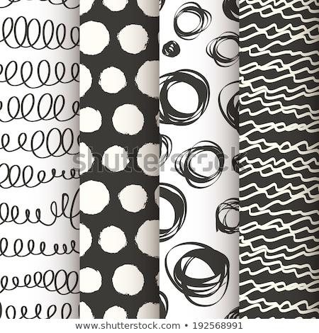 Set of four geometric seamless backgrounds. Stock photo © Sylverarts