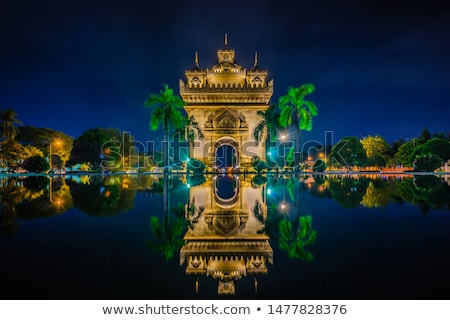 Boog nacht Laos gebouw asian Stockfoto © travelphotography