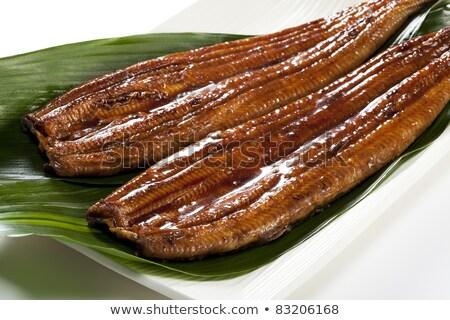 japanese food roast eel   unagi stock photo © fanfo