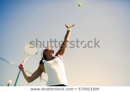 nő · adag · tenisz · sport · testmozgás · fiatal - stock fotó © photography33