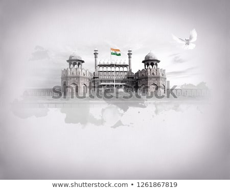 flag of india on brick wall stock photo © creisinger