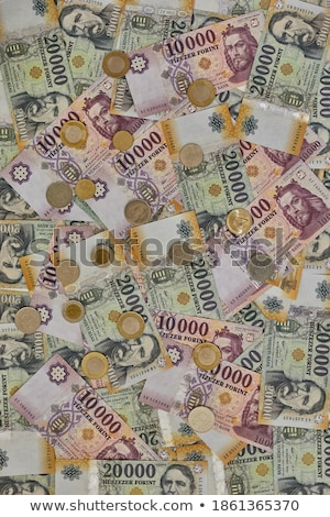 Stack of coins covered banknot Stock photo © a2bb5s