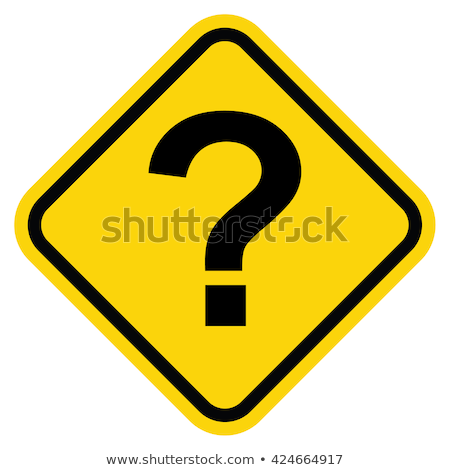 Punto di domanda cartello stradale segno spazio viaggio help Foto d'archivio © latent