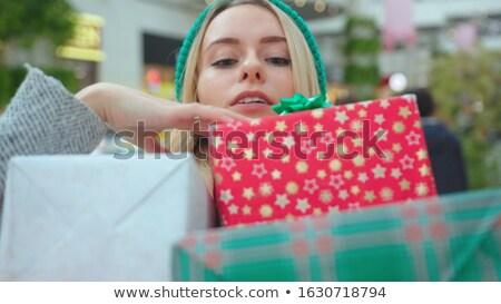 choosing christmas box Stock photo © carlodapino