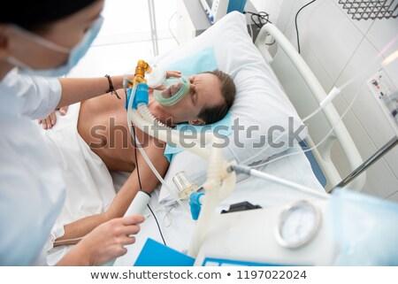 Beteg kórházi ágy orvosi egészség gyógyszer nővér Stock fotó © wavebreak_media