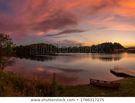 cloudy sunset in canoe country stock photo © wildnerdpix