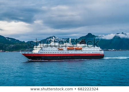 Ferry leaving Svolvaer on Lofoten Stock photo © Harlekino